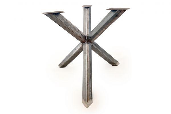 Tischuntergestell - Tischbein - Rohstahl mit drei Beinen - profile view