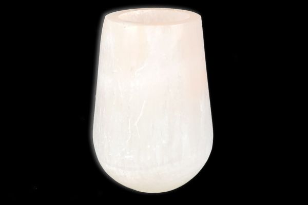 Alabaster Windlicht - Moonlight - front view1