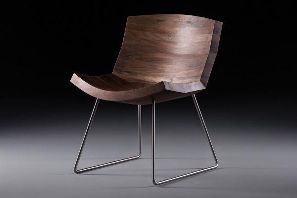 Artisan Chunk Stuhl Breite: 62,5 cm x Tiefe: 62 cm x Höhe: 85 cm in verschiedenen Holzarten - front view1