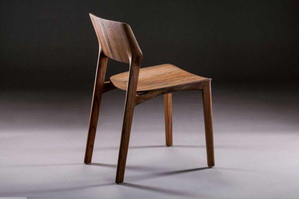 Artisan Fin Stuhl - Breite: 46 cm x Tiefe: 58 cm x Höhe: 80 cm - in verschiedenen Holzarten - side view1