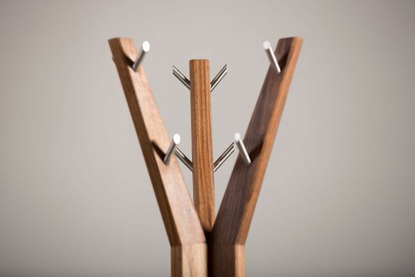 Artisan Hanny Kleiderständer - Länge: 47cm x Breite: 47cm x Höhe: 180 cm - Artisan Gaderobe - closeup1