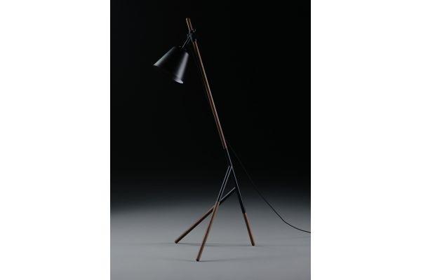 Artisan Insert Lamp (L) - Höhe: 180 cm - in verschiedenen Holzarten - front view1