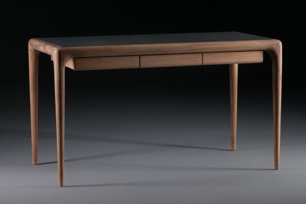 Artisan Latus Leder Schreibtisch - 140 cm bis 160 cm - Artisan Schreibtisch - front view1