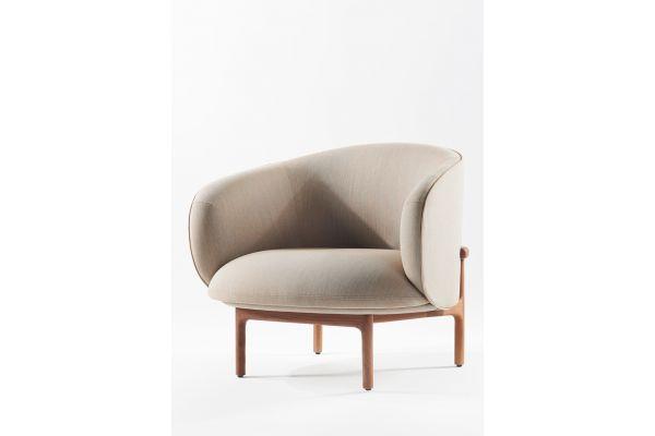 Artisan Mela Lounge Trimmed Sessel - Artisan Sessel - front view1