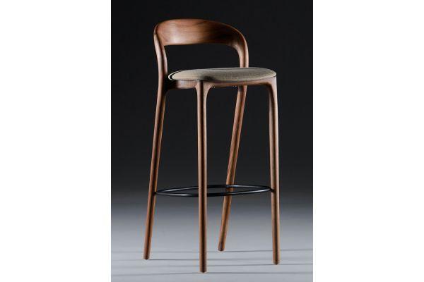 Artisan Neva Light Barhocker 79 - Breite: 42 cm, Tiefe: 50 cm, Höhe: 102 cm - in verschiedenen Holzarten - front view1