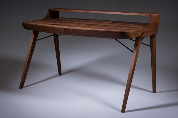 Artisan Picard Schreibtisch (mit Ablage) - 120 cm bis 183 cm - Artisan Schreibtisch - front view1