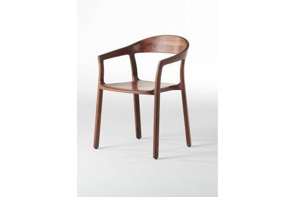 Artisan Tara Stuhl - Breite: 55 cm x Tiefe: 56,8 cm x Höhe: 78,5 cm - in verschiedenen Holzarten - front view1