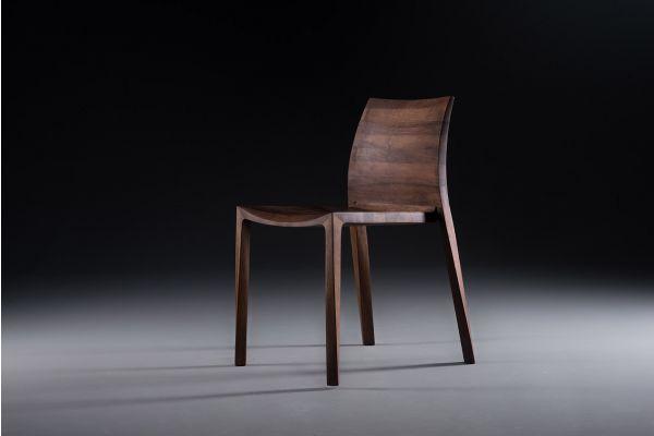 Artisan Torsio Stuhl - Breite: 49 cm, Tiefe: 54 cm, Höhe: 77 cm - in verschiedenen Holzarten - front view1