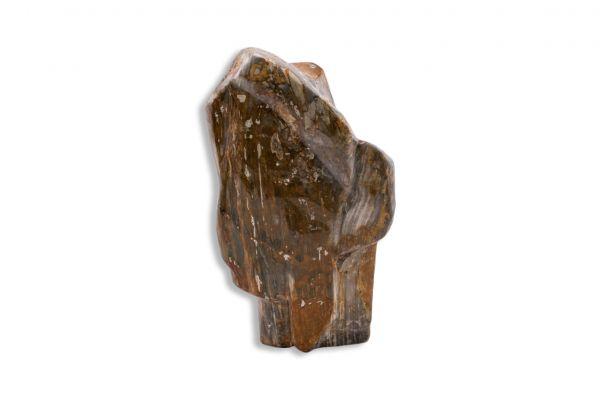 Dekostein - Skulptur aus versteinertem Holz mit Edeloptik - front view