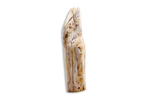 Dekostein - Skulptur aus versteinertem Holz mit Edeloptik - PW13-5 - front view1