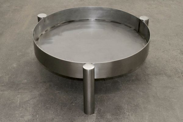 Feuerschale Edelstahl Durchmesser 70 cm - front view1