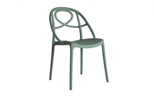Green Etoile Stuhl - Breite: 51 cm, Tiefe: 57,5 cm, Höhe: 84 cm - Green Stuhl - front view1