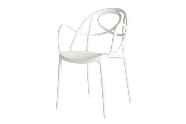 Green Etoile Stuhl mit Armlehnen - Breite: 57 cm, Tiefe: 57,5 cm, Höhe: 84 cm - Green Stuhl - front view1