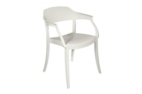 Green Strass Stuhl mit Armlehnen - Breite: 56 cm, Tiefe: 59 cm, Höhe: 79 cm - Green Stuhl - front view1