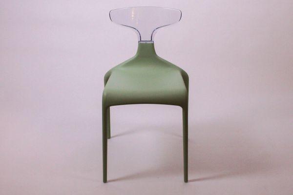 Green Punk Stuhl - Mint Green - Breite 47 cm, Tiefe 53 cm, Höhe 81 cm - front view1