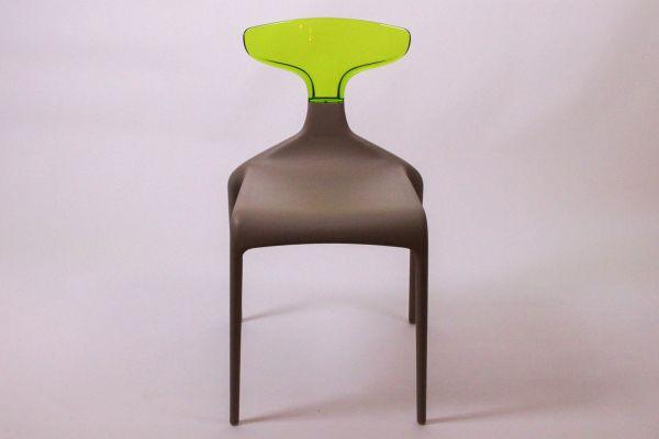 Green Punk Stuhl - Schlamm Grün - Breite 47 cm, Tiefe 53 cm, Höhe 81 cm - front view1