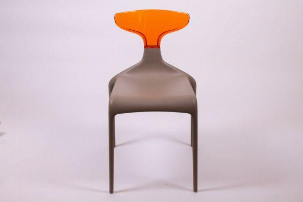 Green Punk Stuhl - Schlamm Orange - Breite 47 cm, Tiefe 53 cm, Höhe 81 cm - front view1