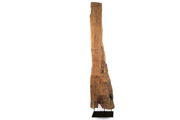 XXL Teak-holz Deko Objekt Kunst Teak  Skulptur Statue Naturdekoration - front view