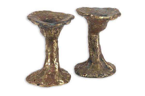 Kerzenhalter (2er) - Bronze - front view1