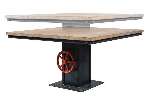 Tischgestell im Industriedesign aus Stahl - höhenverstellbar 68 cm - 98 cm - SOW 030-1