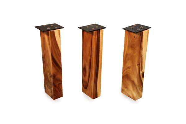 Tischbein aus Edel-Suarholz für runde Esstischplatten - geölt