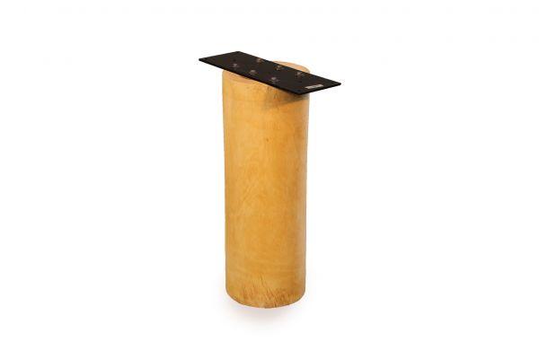 Massivholz Tischbein-Untergestell runde Form für Baumstammplatten Ø 25 cm - geölt