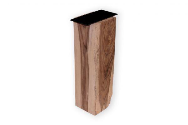 Massivholz Tischbeine in quadratischer Form mit einem Profil von 20 cm - front view