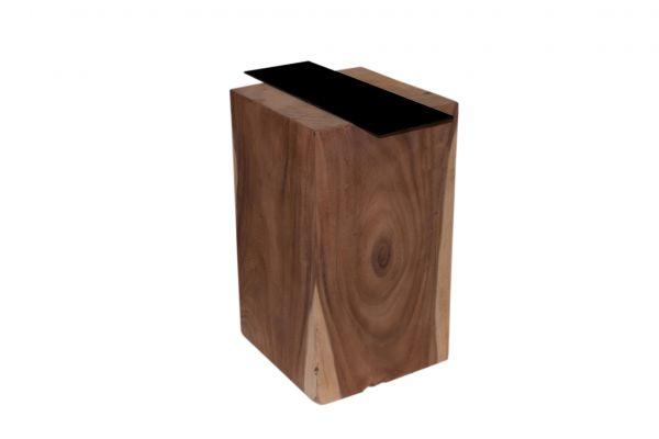 Massivholz Tischbeine in quadratischer Form mit einem Profil von 40 cm - back view